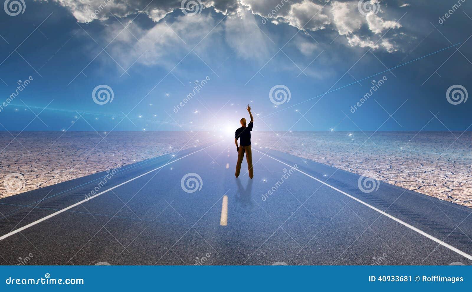 Homem e estrada