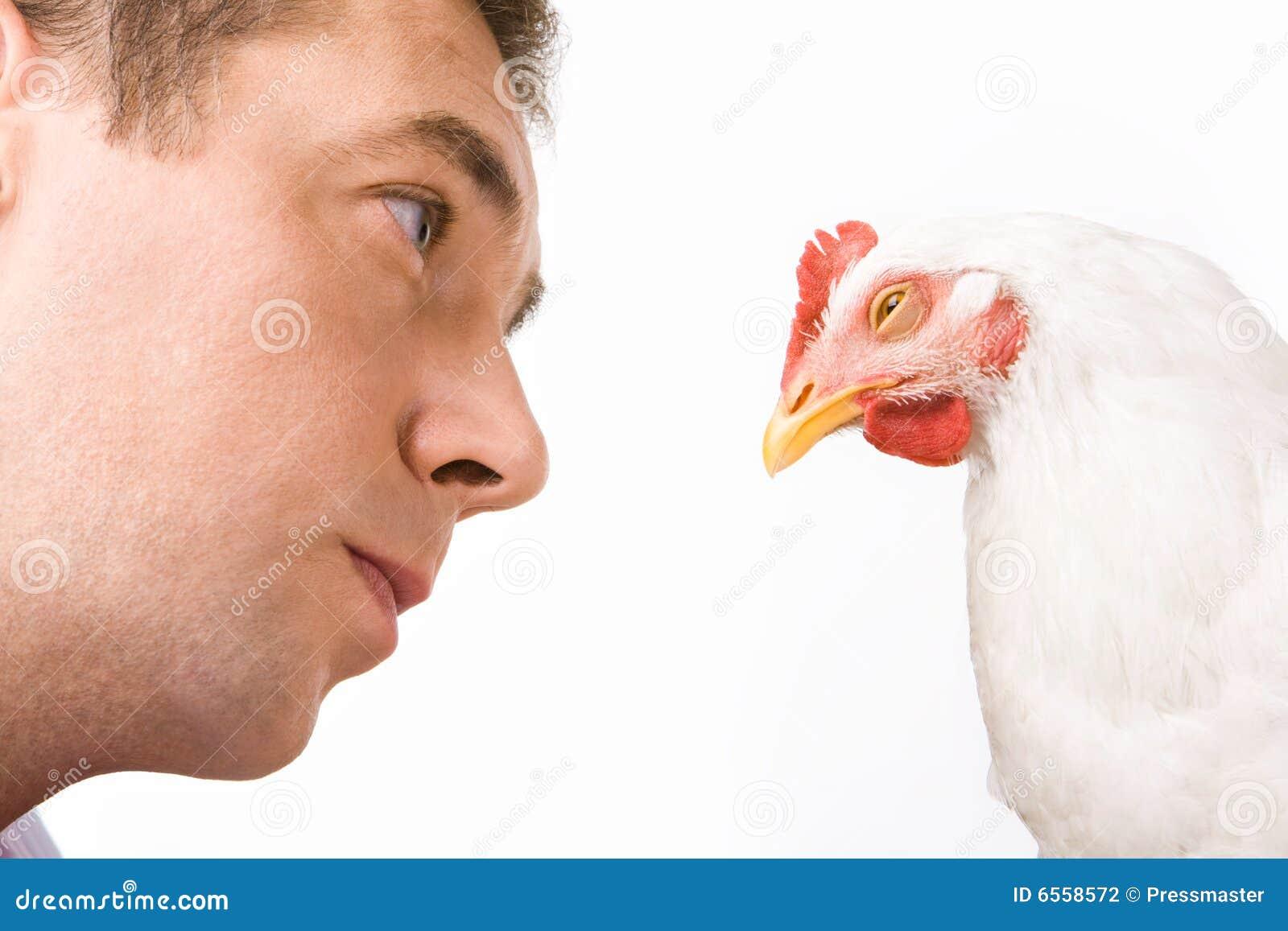 Homem e seu animal de estimação