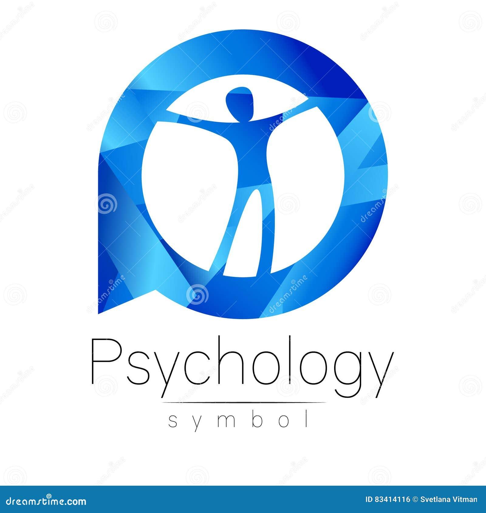 Homem moderno Logo Sign da psicologia Ser humano em um círculo Estilo creativo