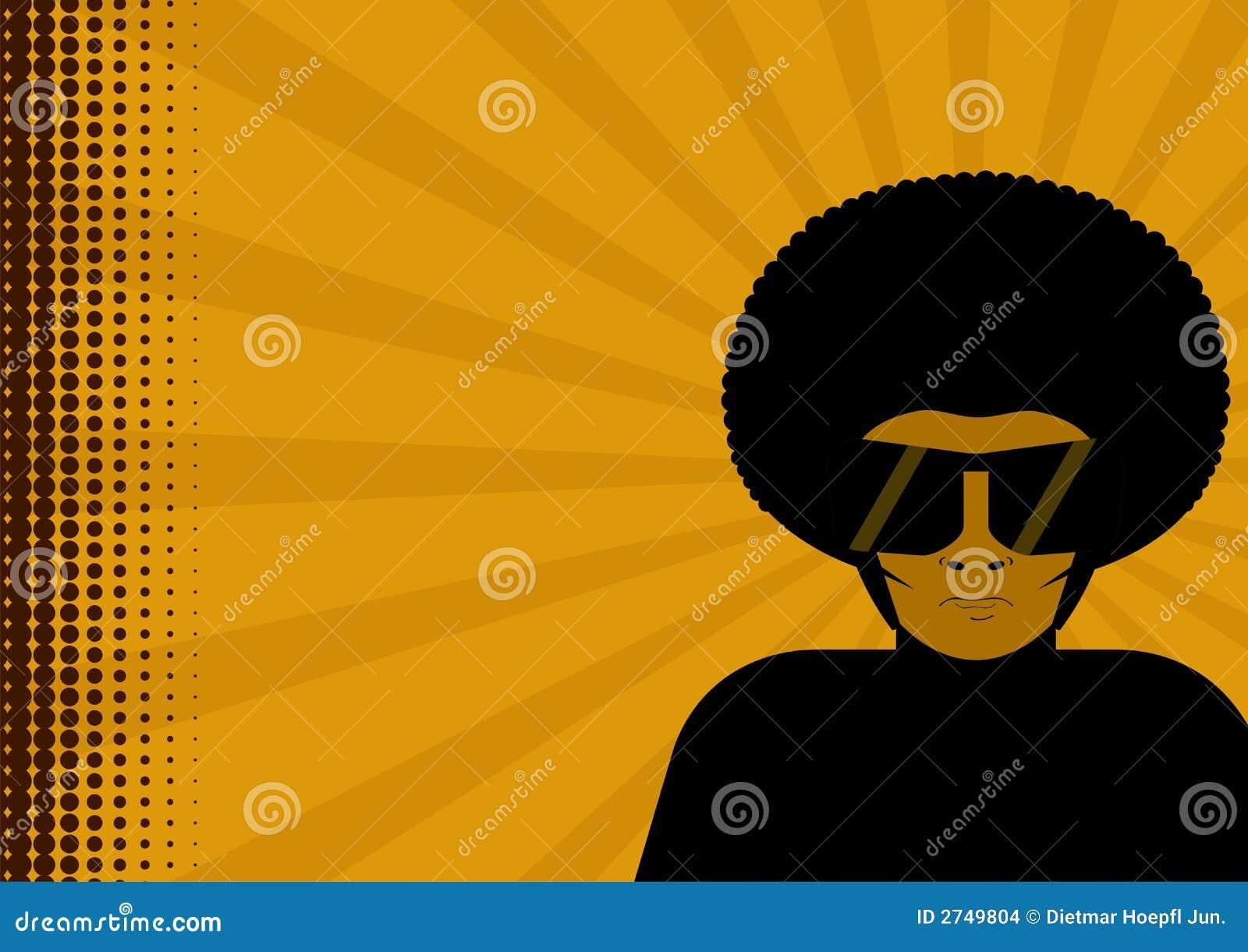 Homem no afro