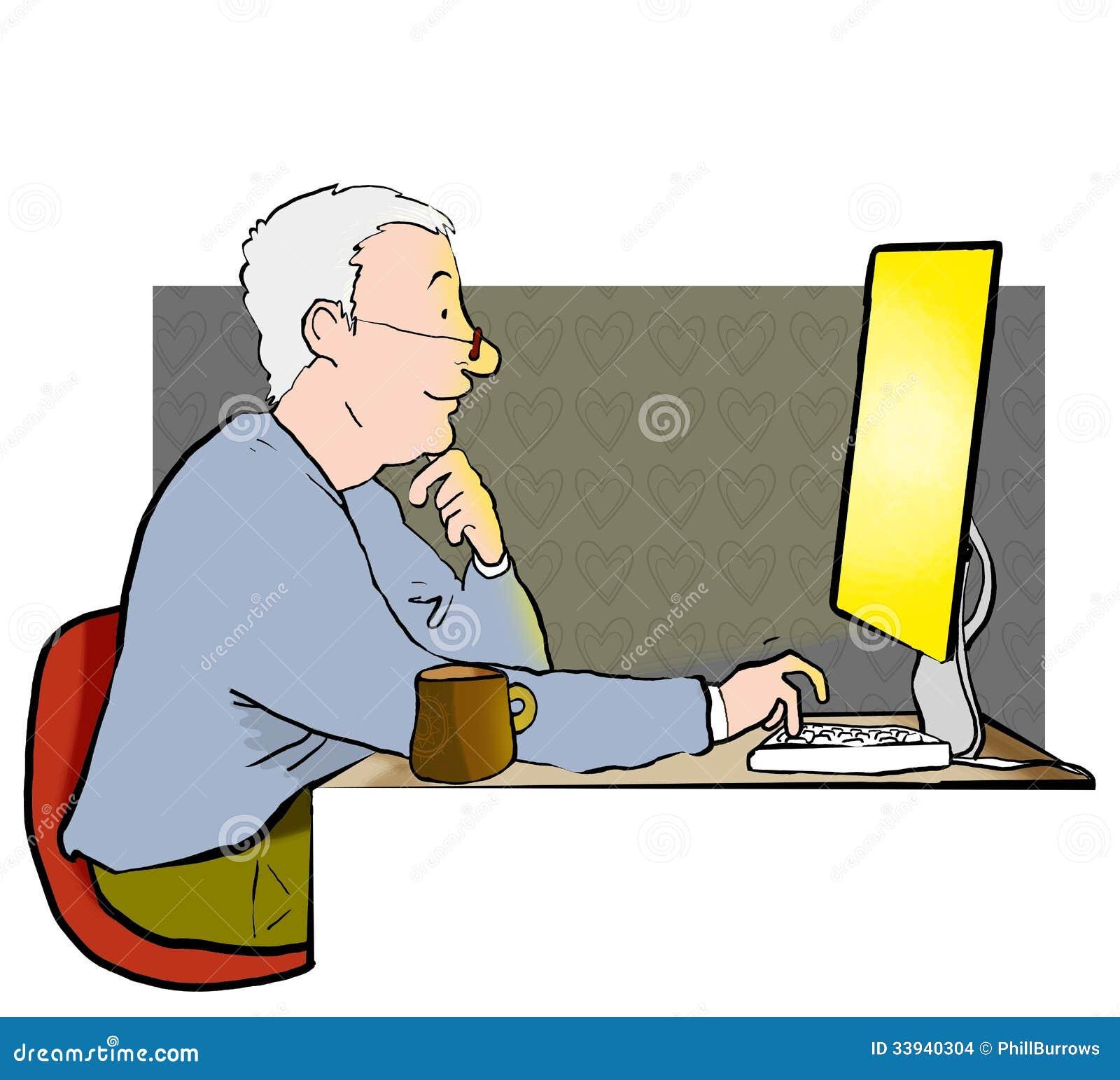Homem no Internet