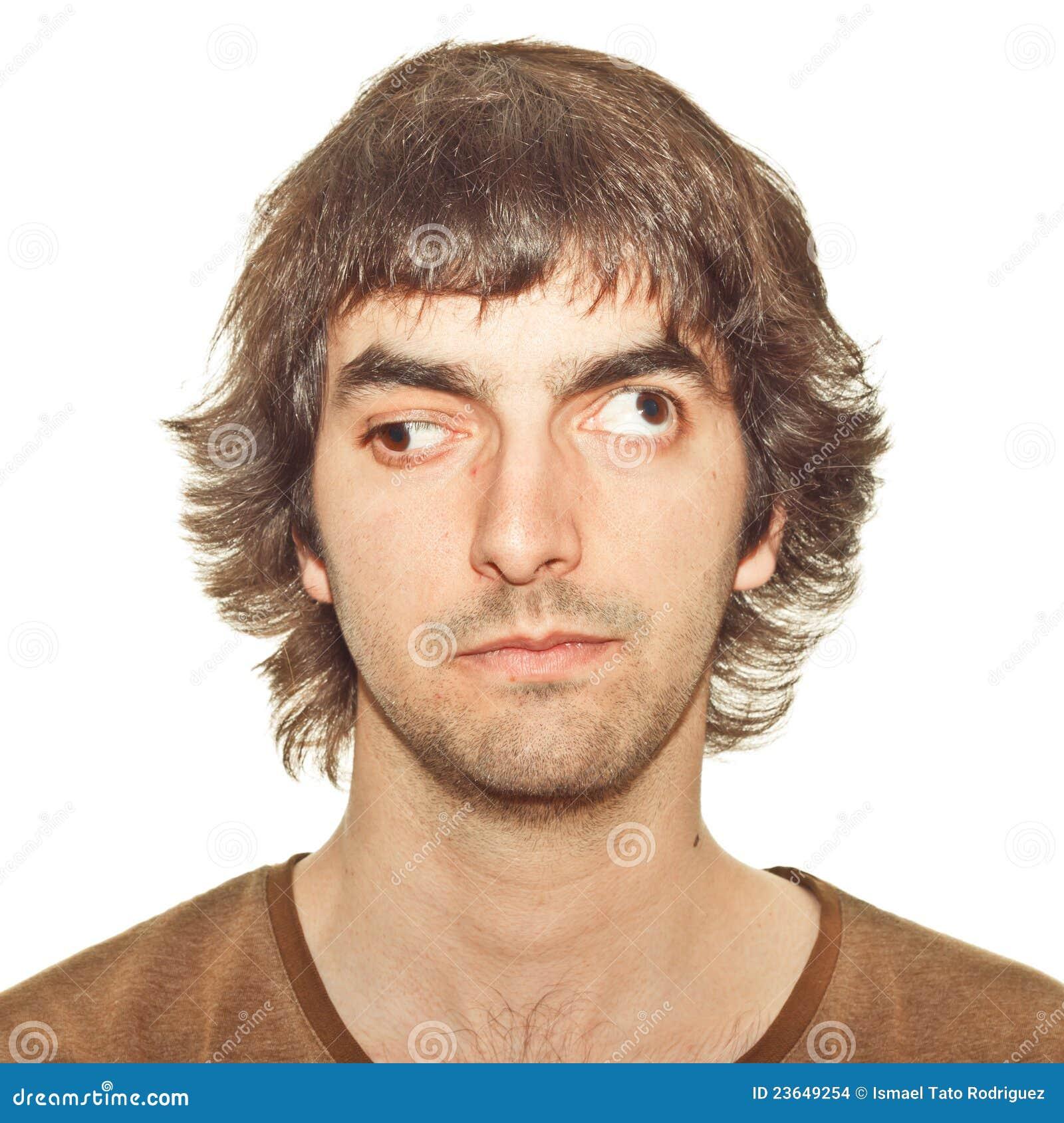 Homem novo Cross-eyed