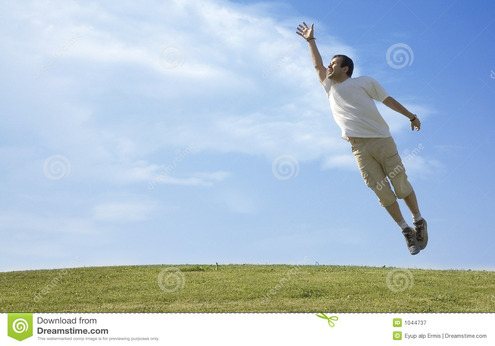 Homem novo de salto