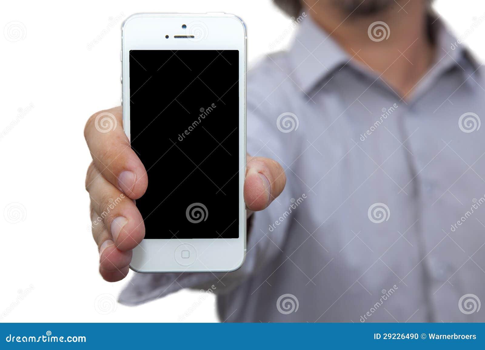 Download Homem Novo Que Guardara O Telefone Moderno Foto de Stock - Imagem de móvel, conecte: 29226490