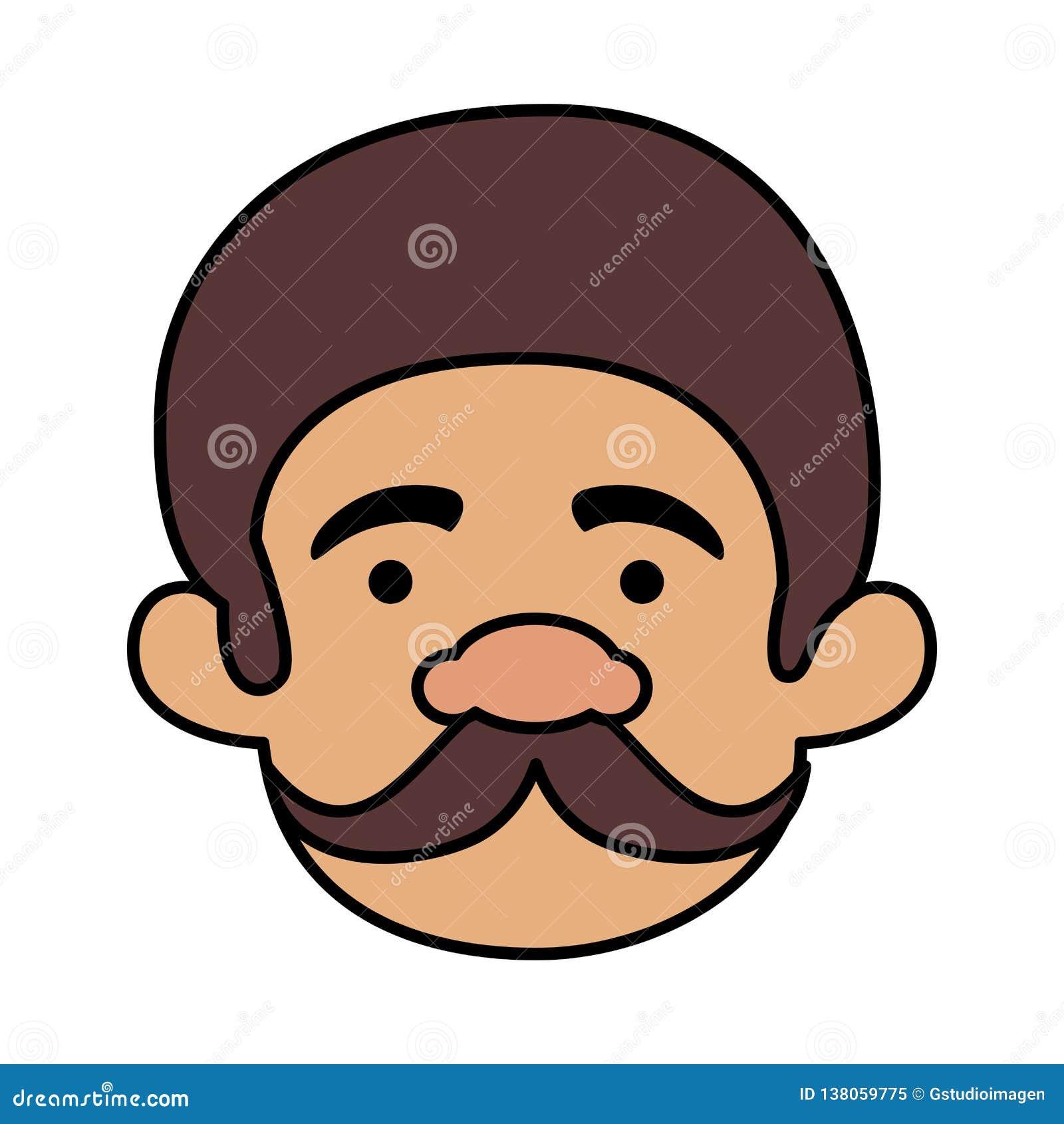 Homem principal com o bigode do homem macho