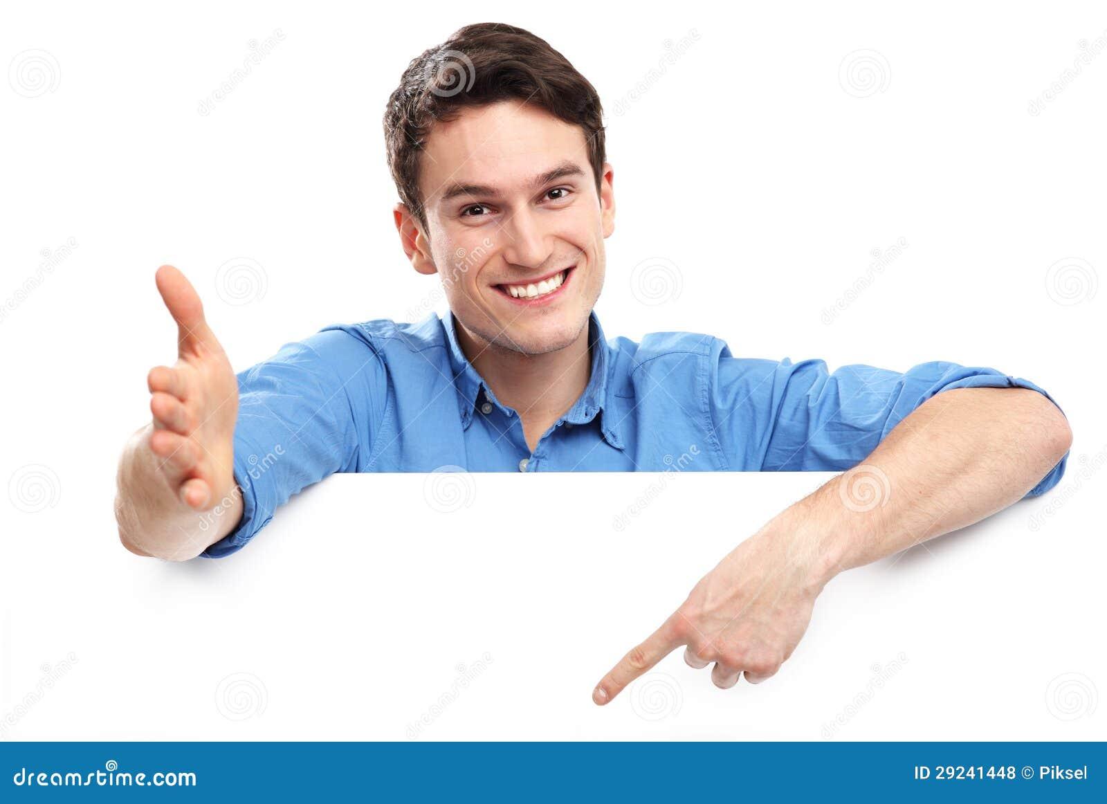 Download Homem Que Aponta Para Baixo No Whiteboard Vazio Foto de Stock - Imagem de cartaz, blank: 29241448