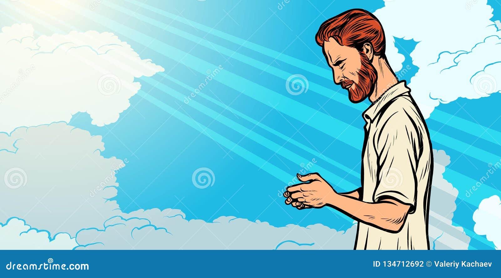 Homem, religião e fé da oração Espiritualidade da cristandade do Islã