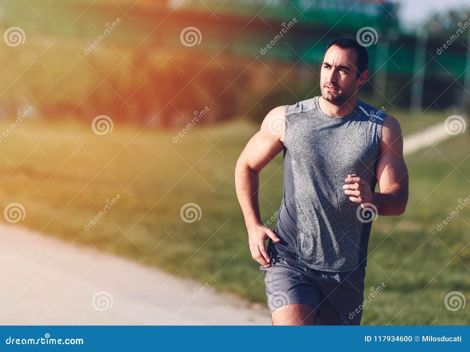 Homem Running do esporte
