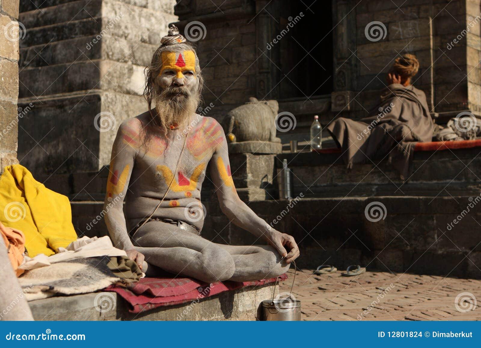 Homem santamente (Sadhu)