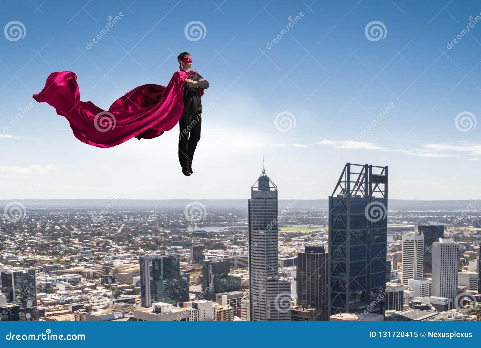 Homem super no céu