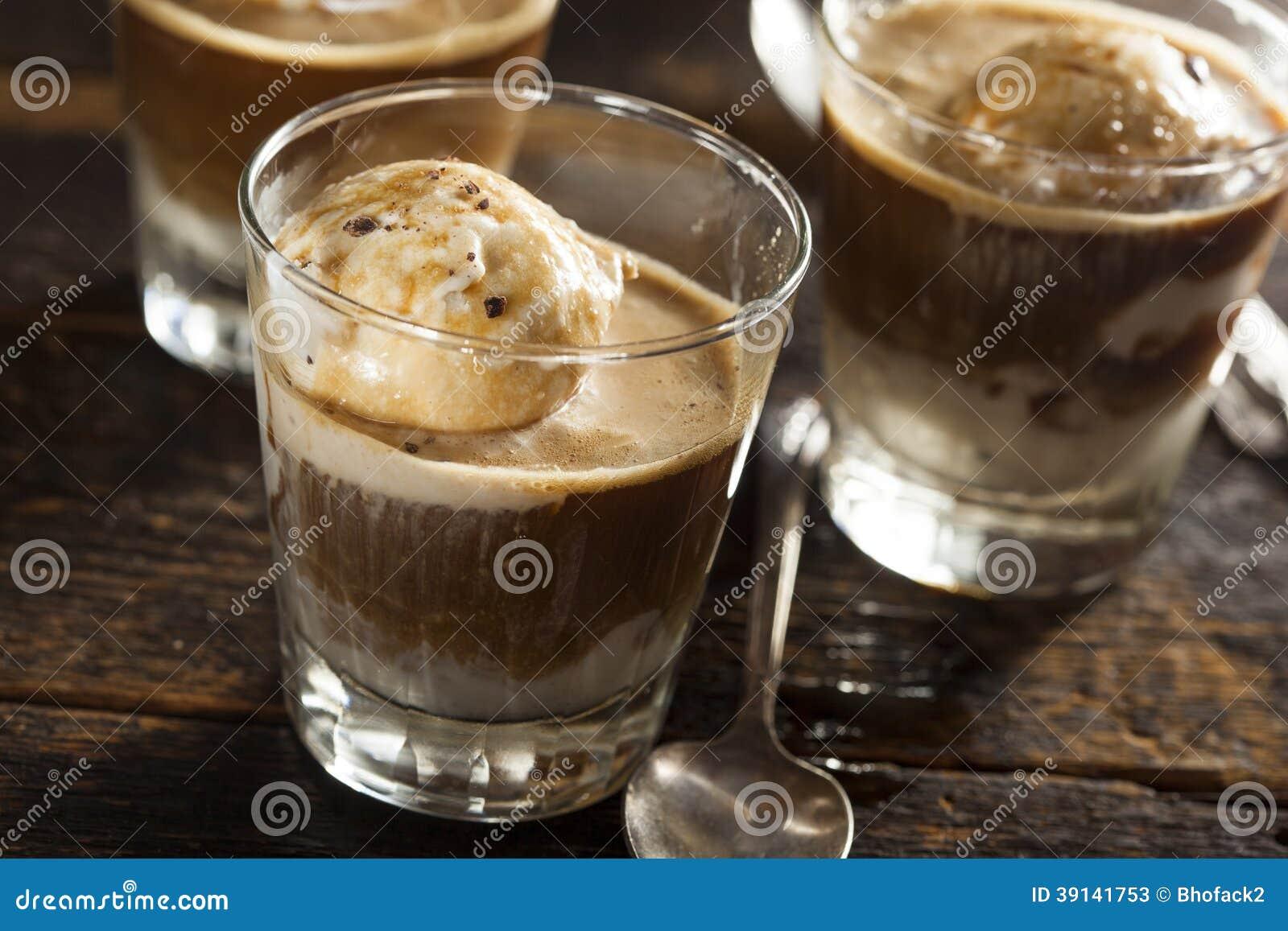 Homemade Affogato with Ice Cream