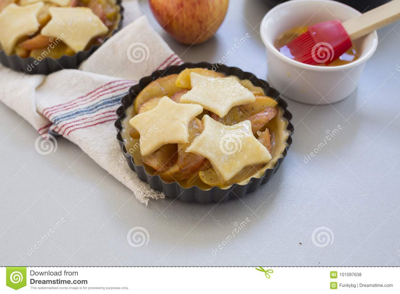 Download homemade apple pie in kitchen stock photo image of fruit background 101097638
