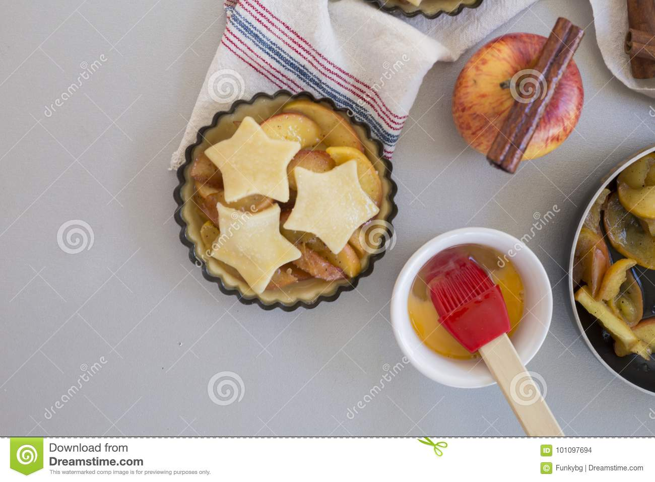Download homemade apple pie in kitchen stock photo image of object confectionery 101097694