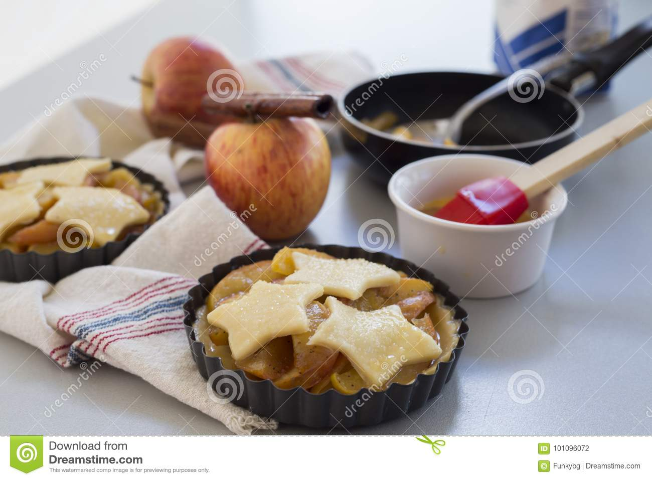 Download homemade apple pie in kitchen stock photo image of confection cuisine 101096072