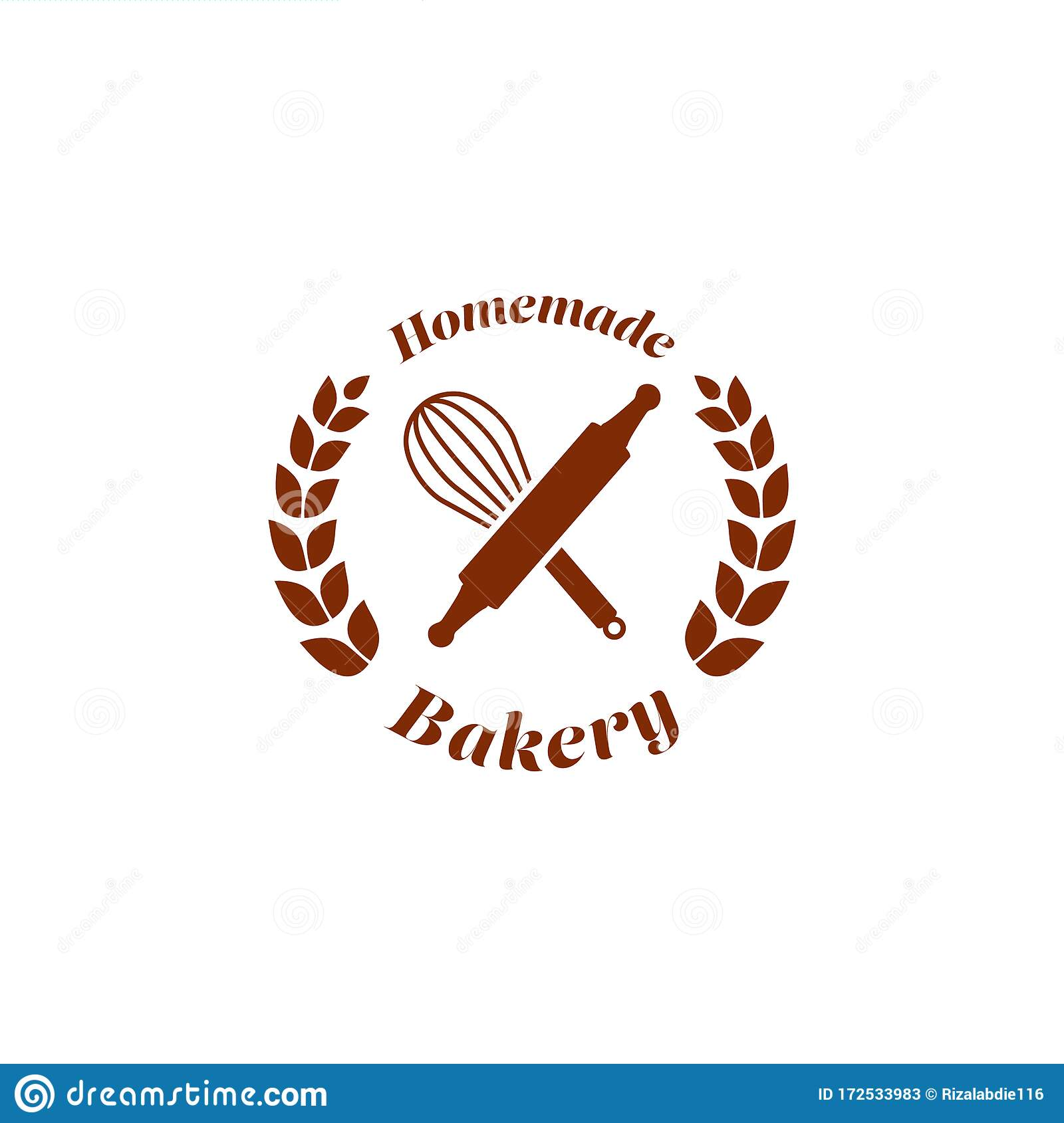 Homemade Bakery Bread Shop Store Logo Badge Symbol With