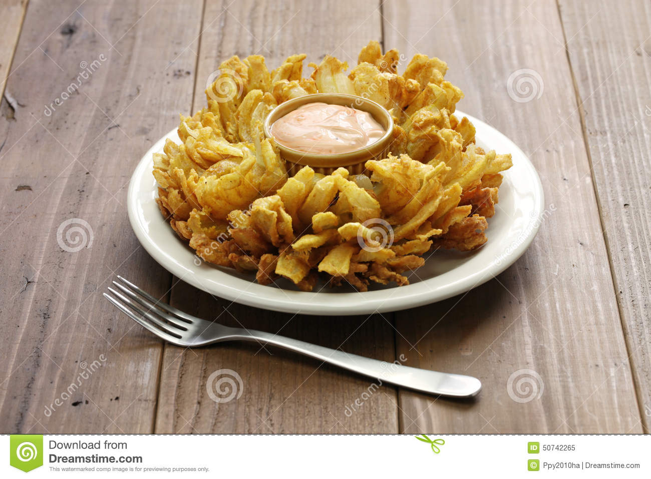 Homemade blooming onion