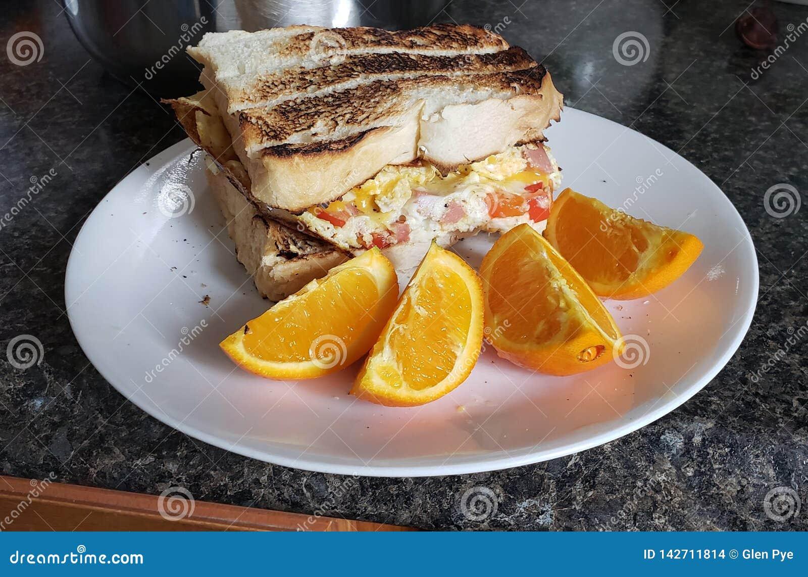 Homemade breakfast sandwich