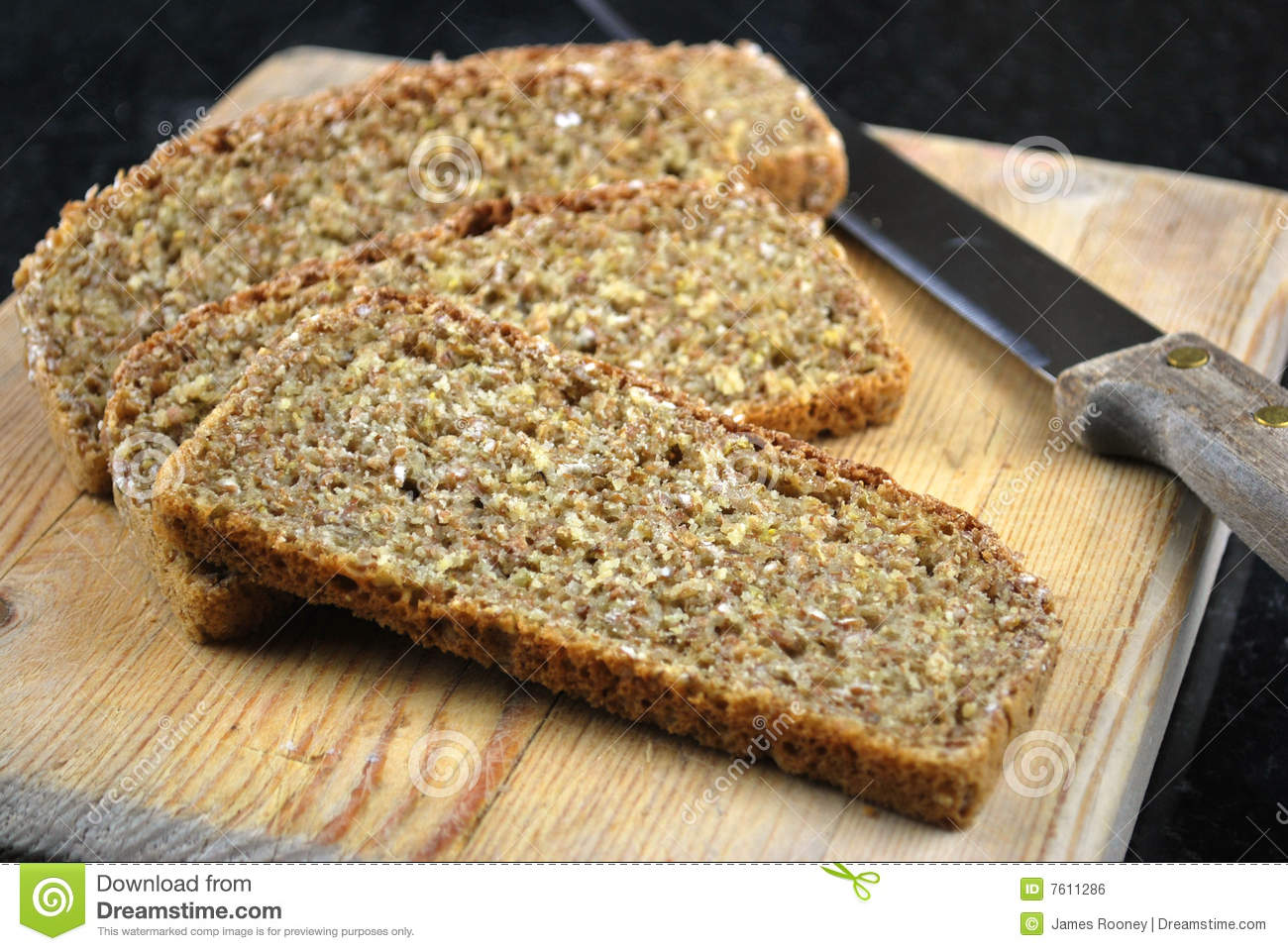 Homemade Brown Bread Royalty Free Stock Image