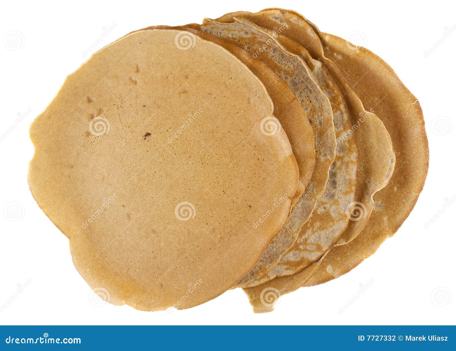 Homemade buckwheat flour crepes