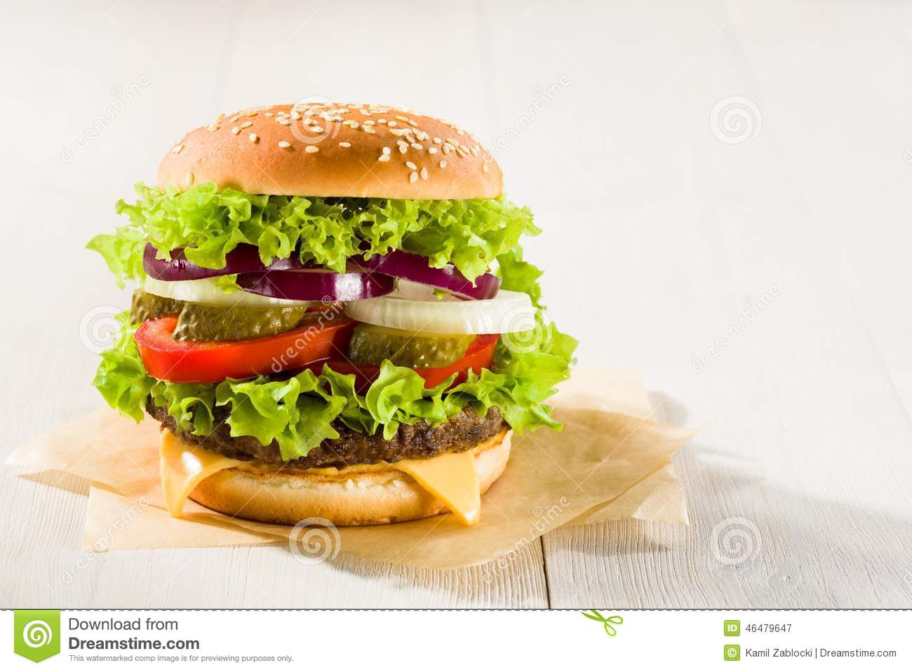 Homemade burger stock photo image 46479647 for Table burger