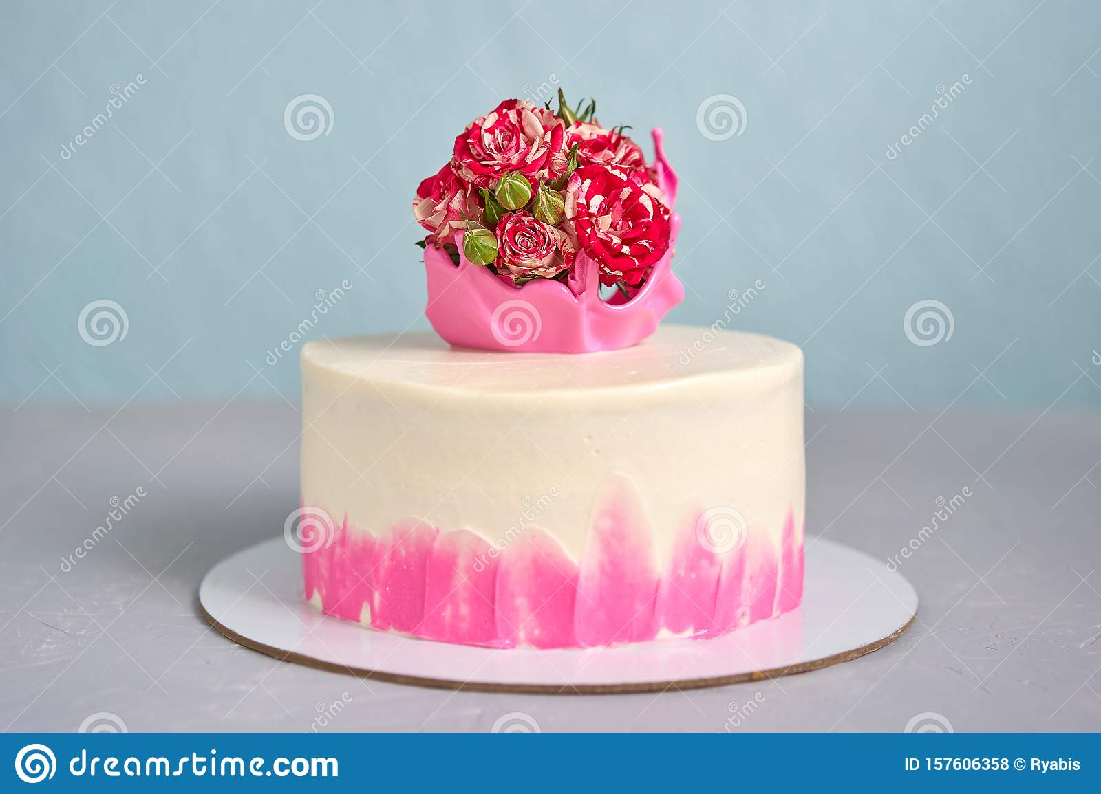 Homemade Cake Decorated With A Crown Of Caramel With A