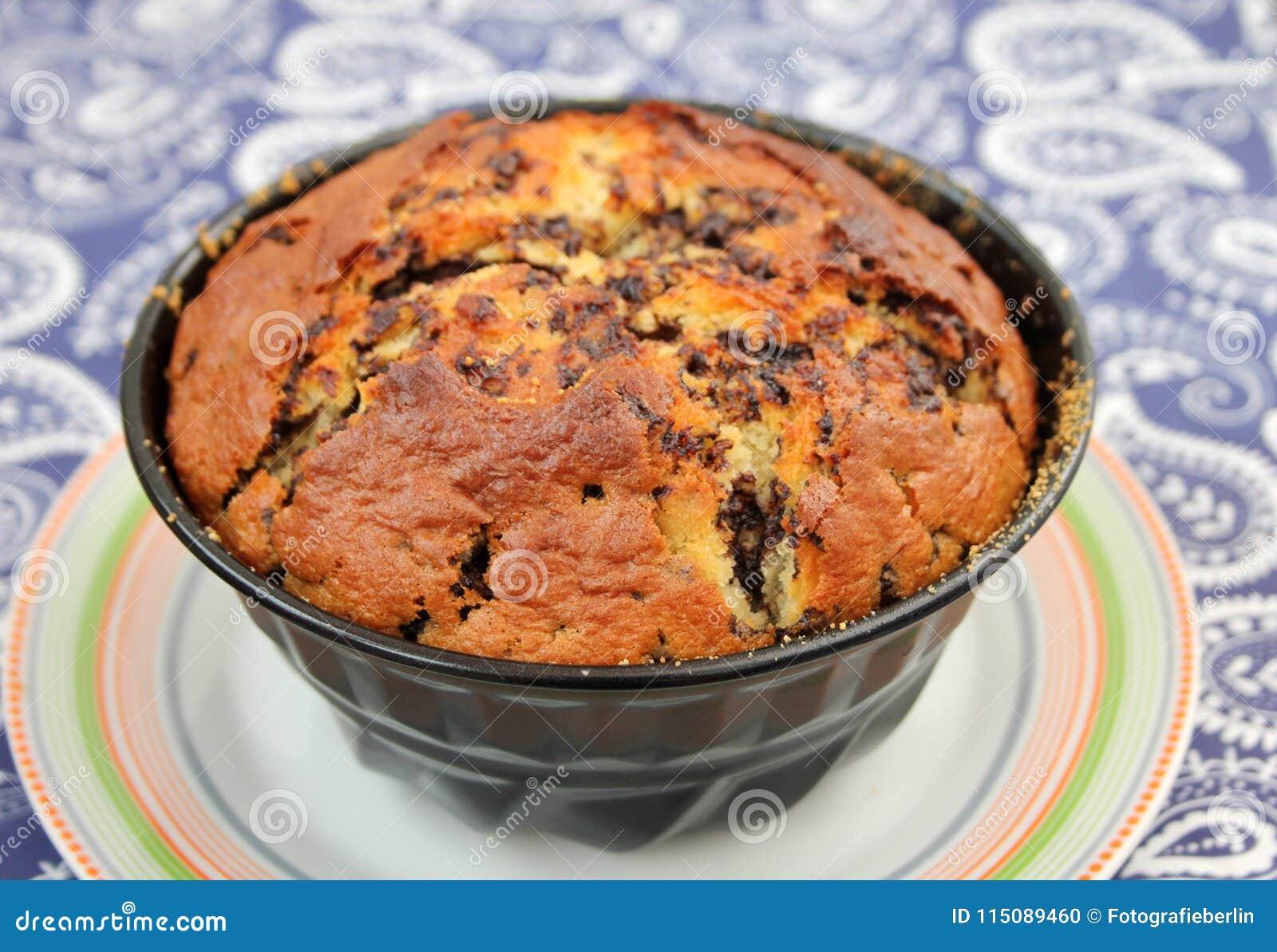 Homemade cake with chocolate