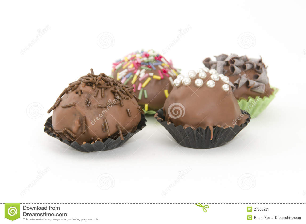 Homemade Cakepops With Chocolate Sprinkles Stock Image - Image ...