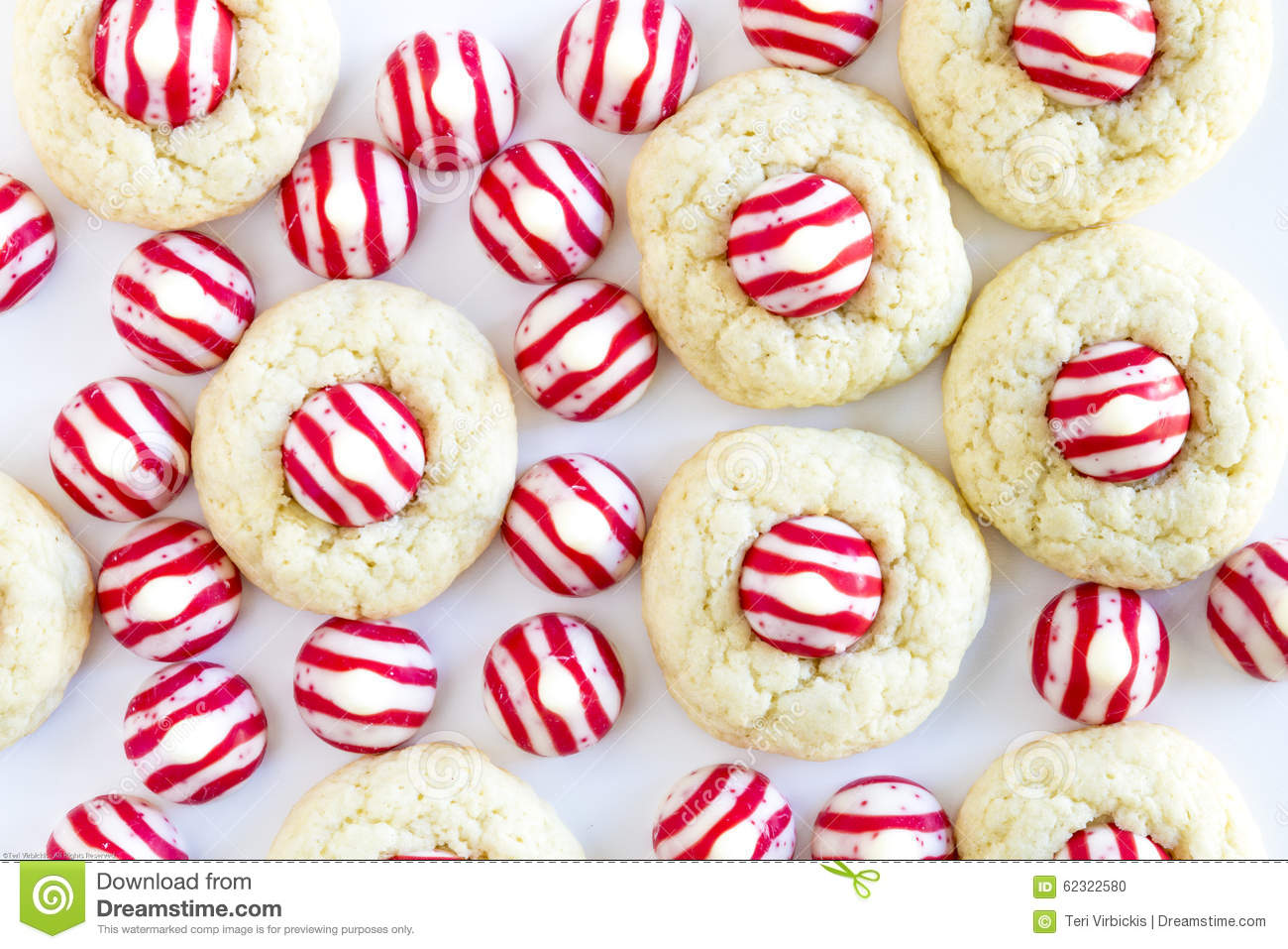 Homemade Candy Cane Kiss Cookies Stock Photo Image Of Confections
