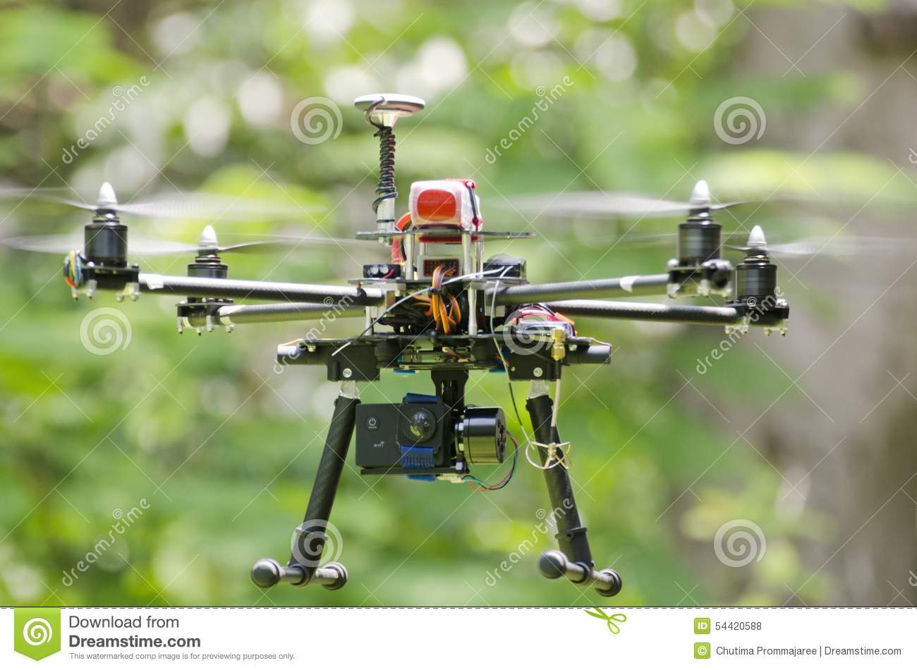 Homemade Carbon Drone Stock Photo Image Of Technology
