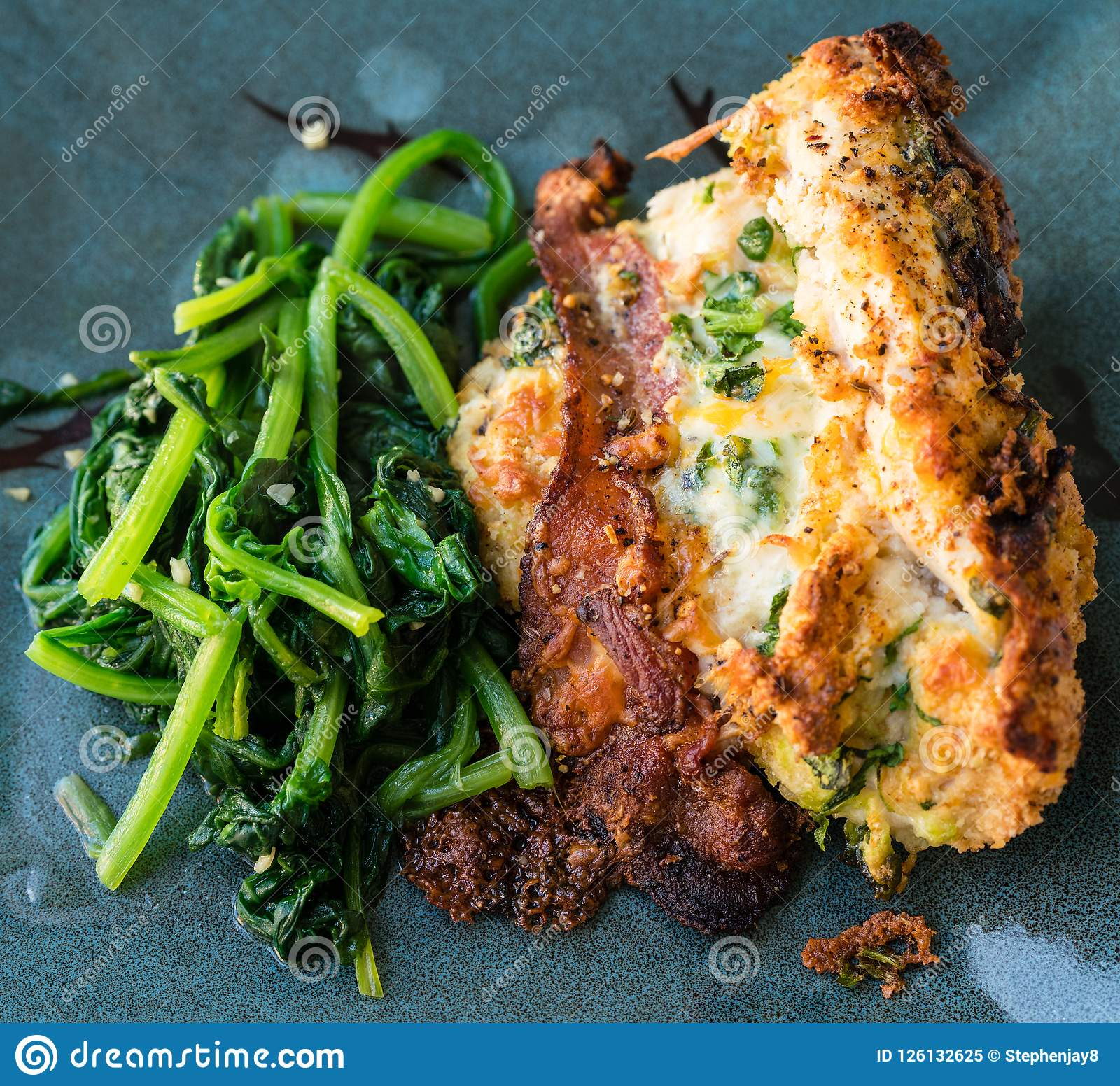 Chicken Cordon Bleu Stock Image Image Of Blue Chickencordonbleu 126132625