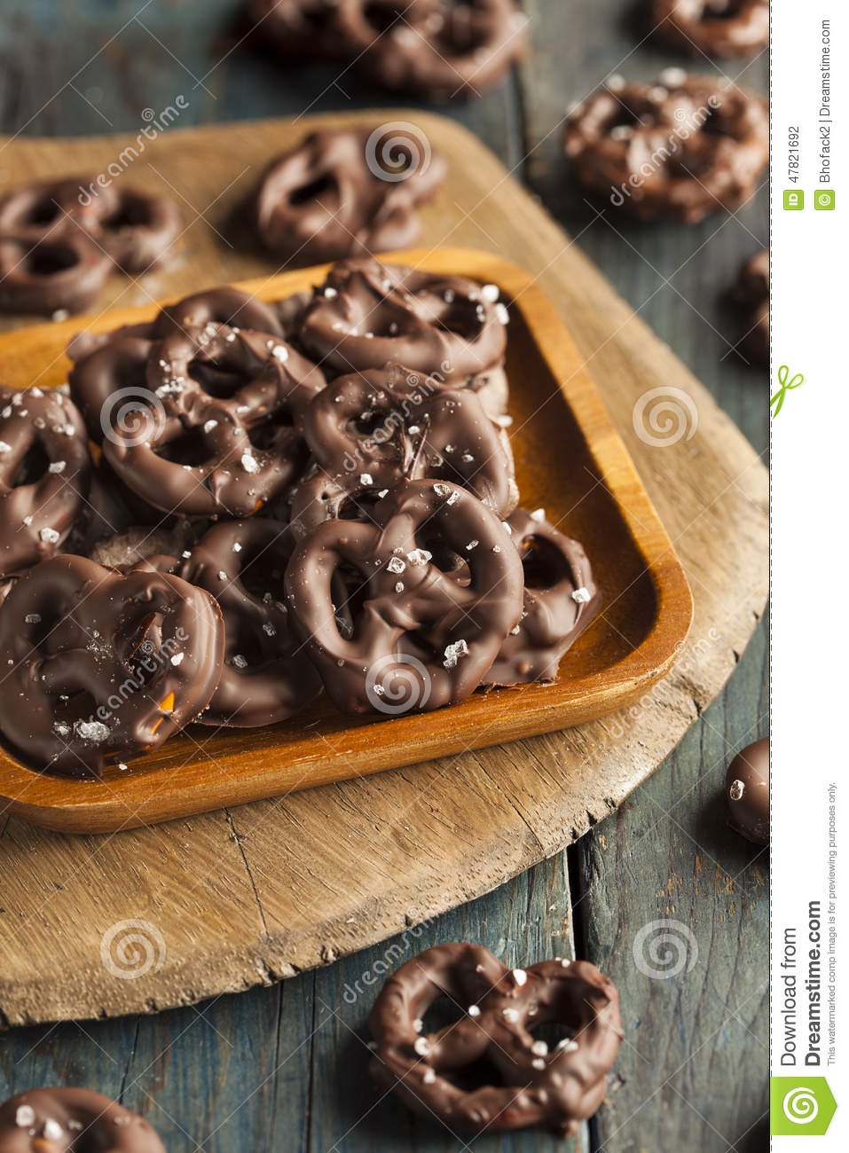 Homemade Chocolate Covered Pretzels Stock Photo - Image of