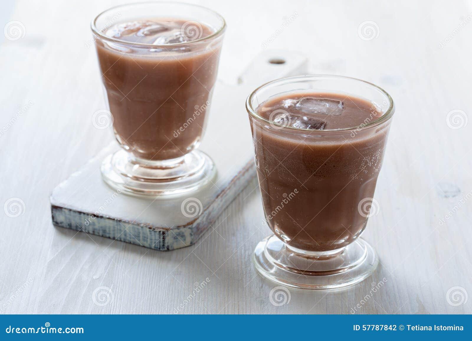 Homemade Chocolate Egg Cream With Milk, Soda Water And Chocolate ...