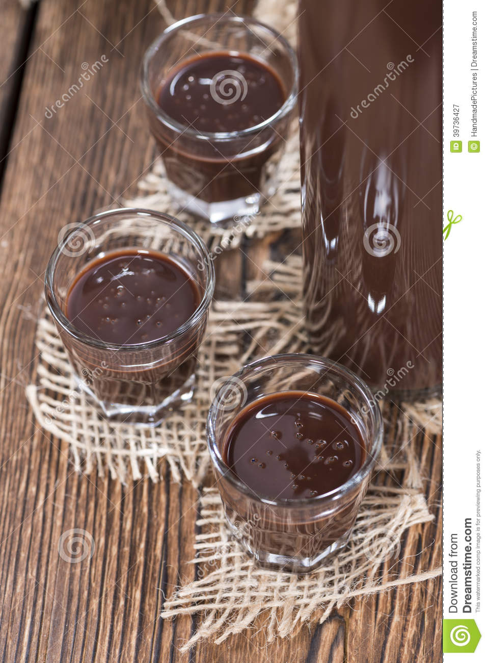 Homemade Chocolate Liqueur Stock Image | CartoonDealer.com ...