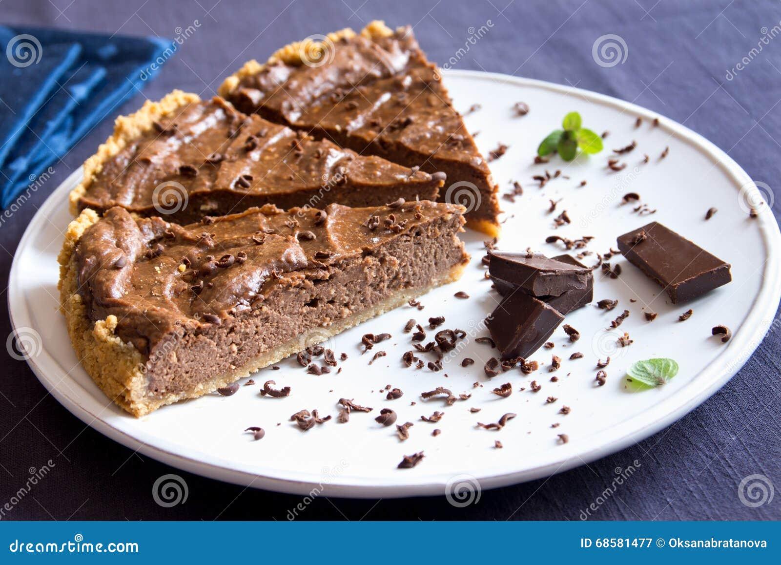 Homemade Chocolate Pie Stock Photo - Image: 68581477