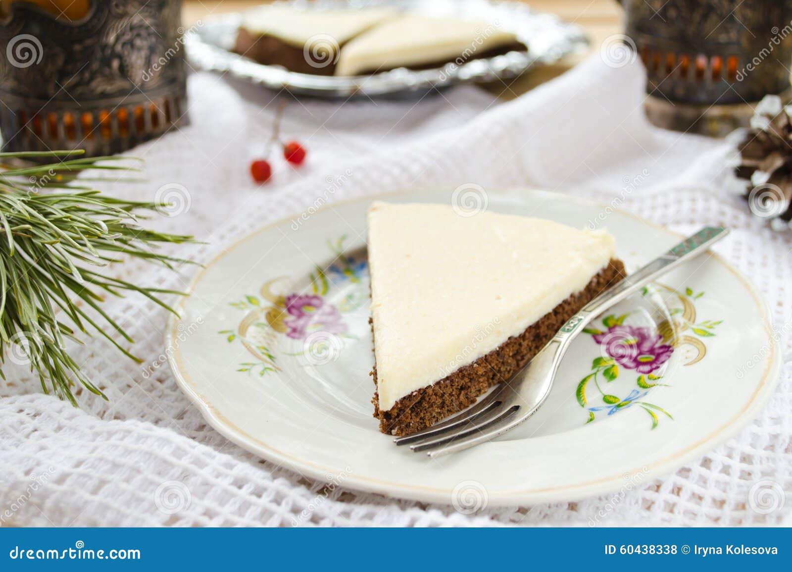 Homemade Chocolate Pie With Cream Cheese Stock Photo - Image: 60438338