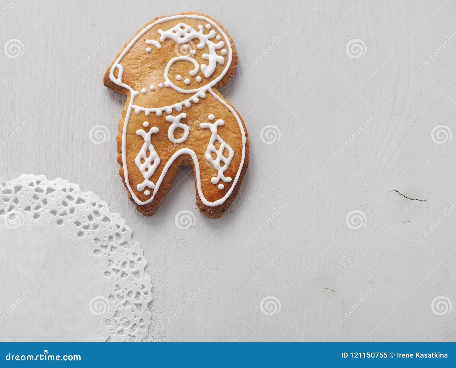 Homemade Christmas Sugar Cookies Glazed With Royal Icing. Christmas ...