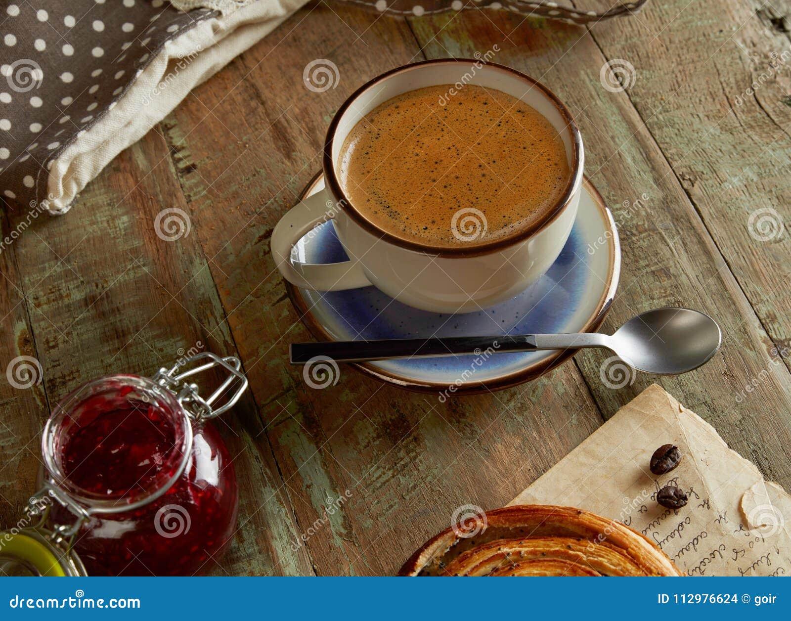Homemade coffee closeup
