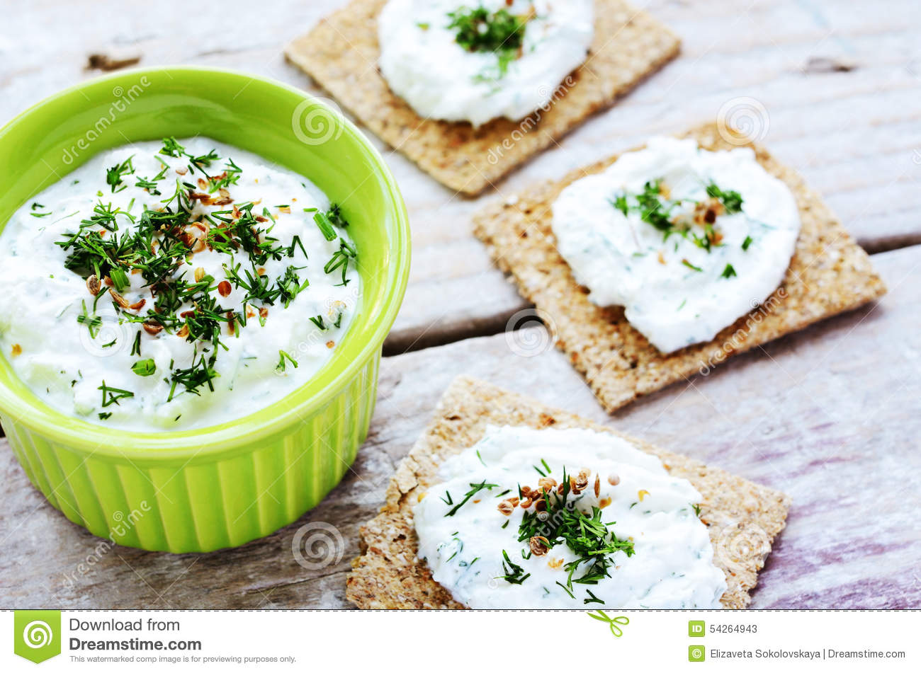 Homemade cottage cheese spread and rye loaves sandwiches