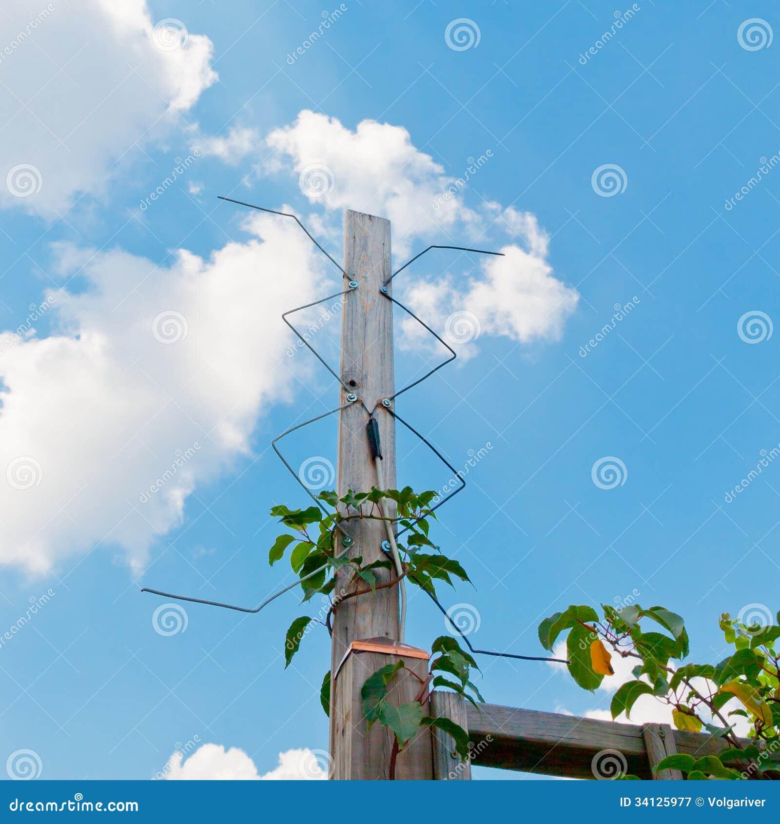 Homemade Digital Outdoor TV Antenna. Royalty Free Stock Photography