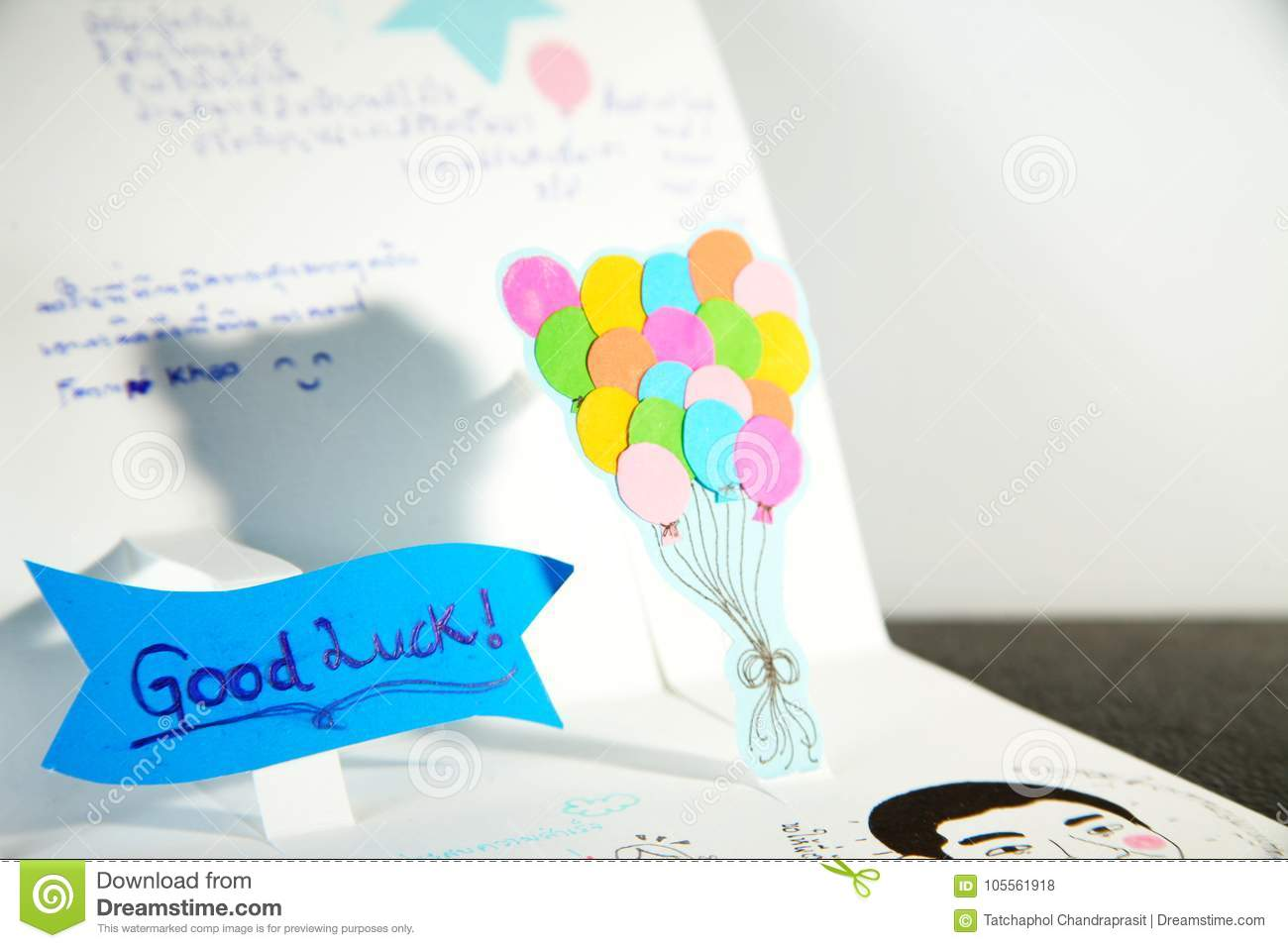 A Homemade Diy Farewell Card Idea Stock Photo Image Of