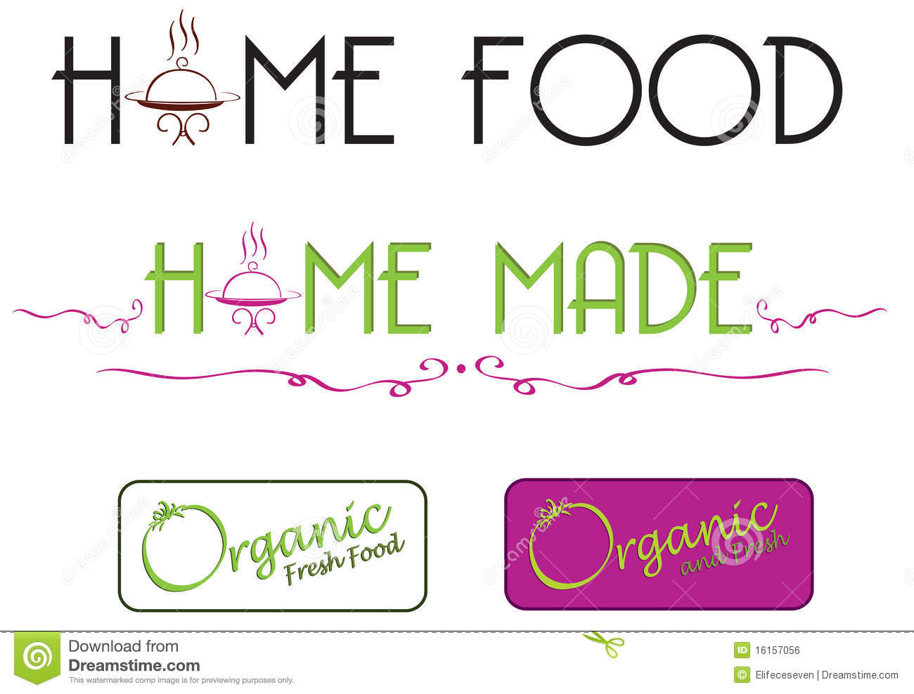 Homemade Food Stock Vector Illustration Of Graphic Tasty 16157056
