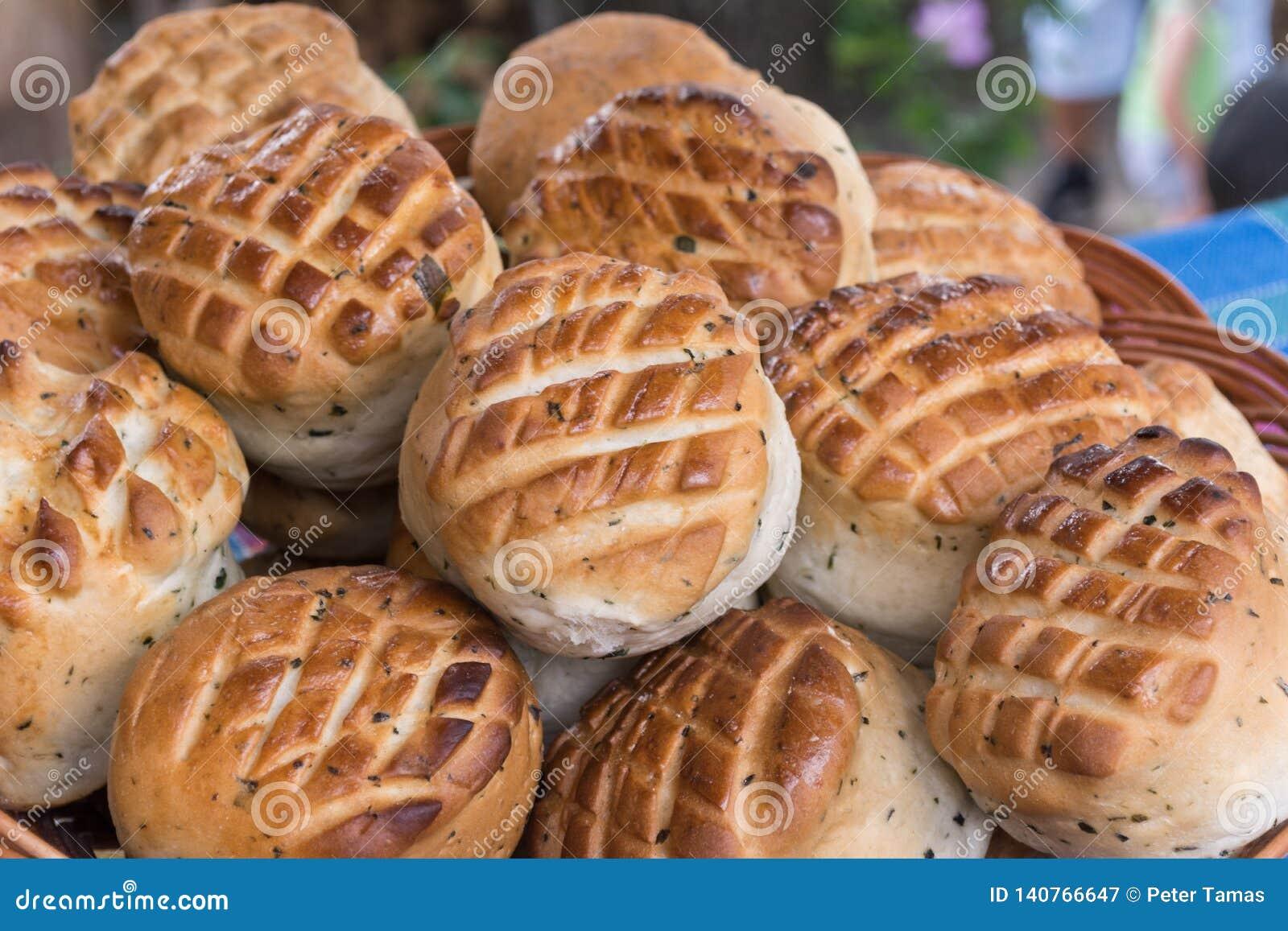 Homemade freshly baked scones in Hungary