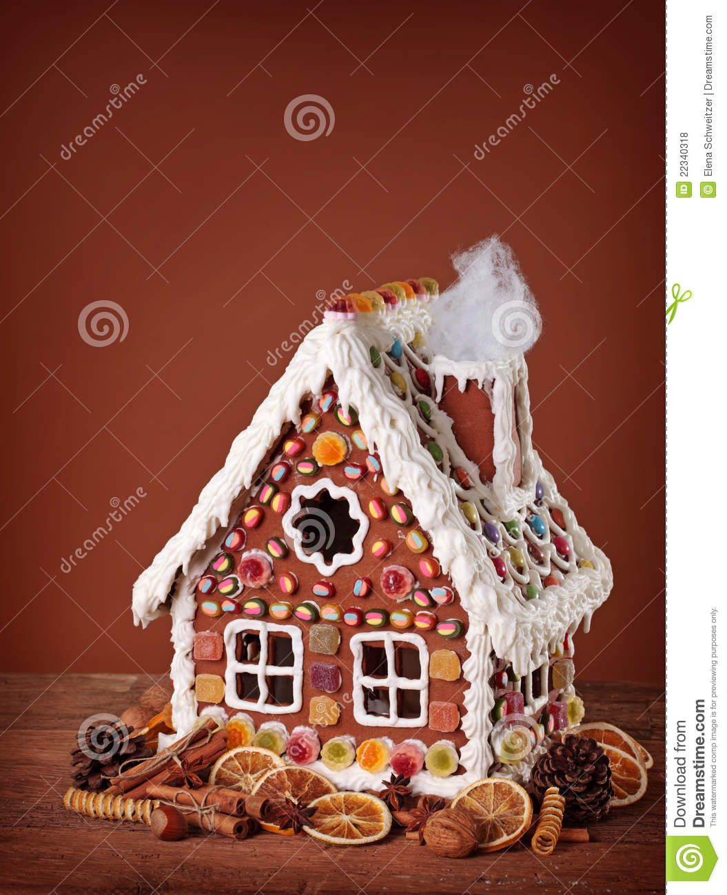 The Gingerbread White House >> Homemade Gingerbread House Royalty Free Stock Photos - Image: 22340318
