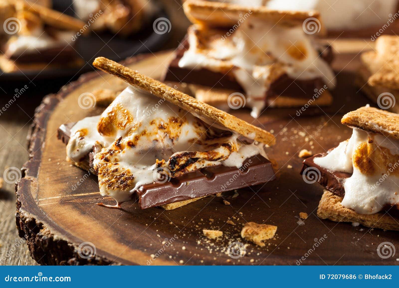 Homemade Gooey Marshmallow S mores