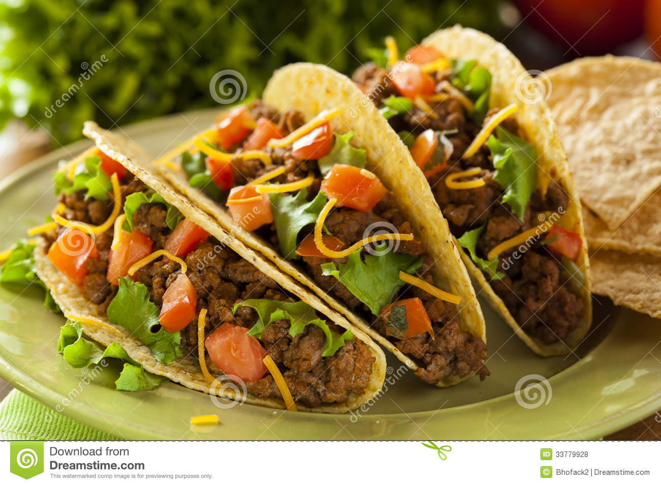 Homemade Ground Beef Tacos Royalty Free Stock Photos - Image: 33779928