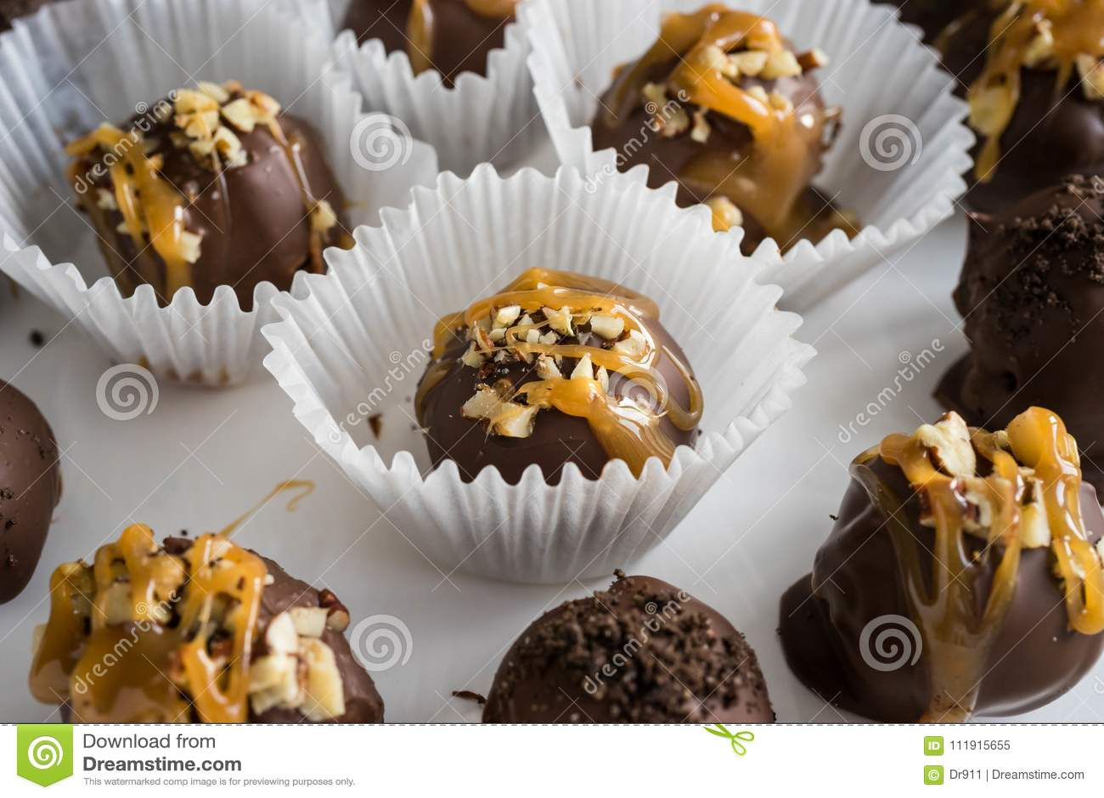 Homemade healthy chocolate truffles