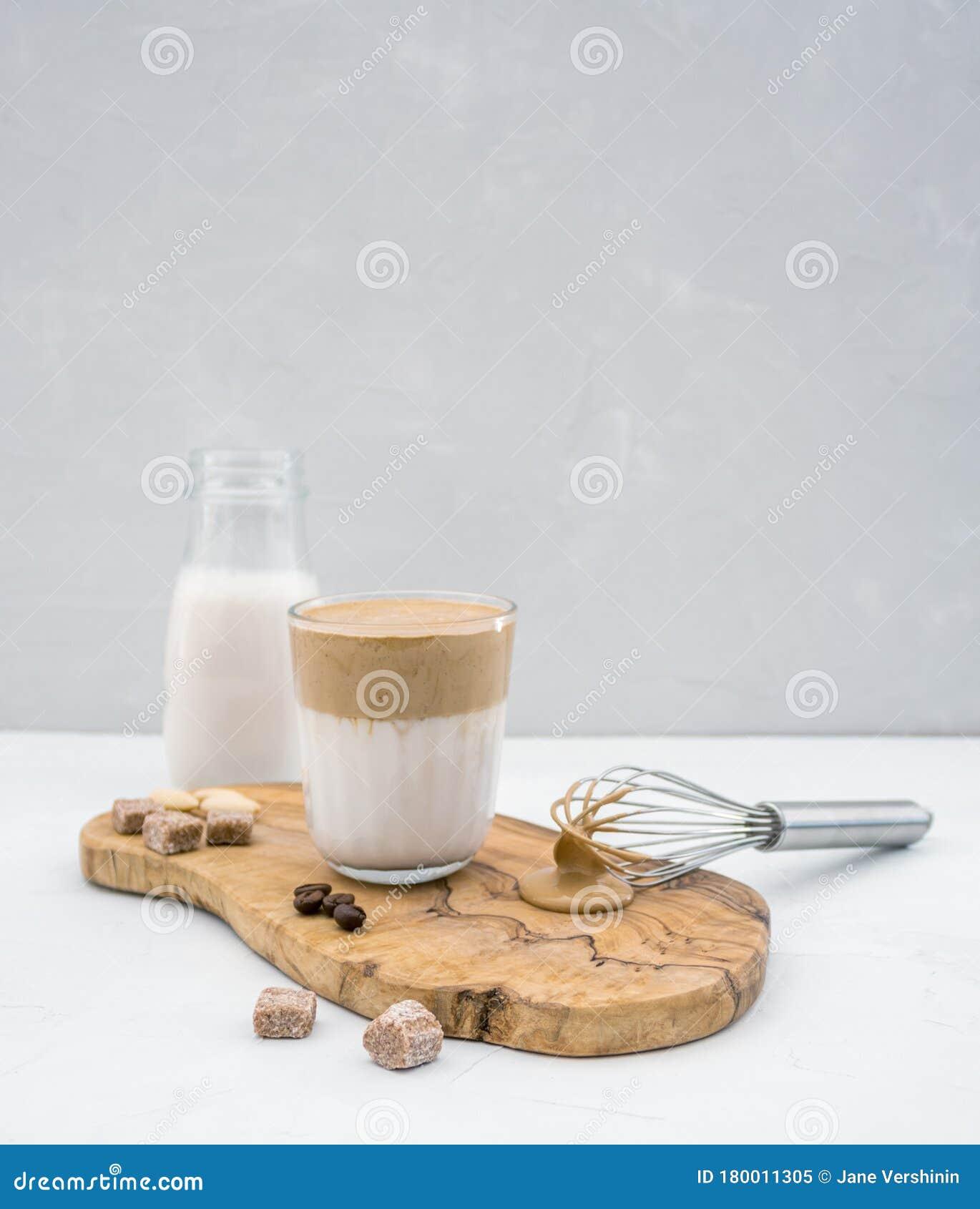 Homemade Korean Whipping Coffee Dalgona From Almond Milk ...