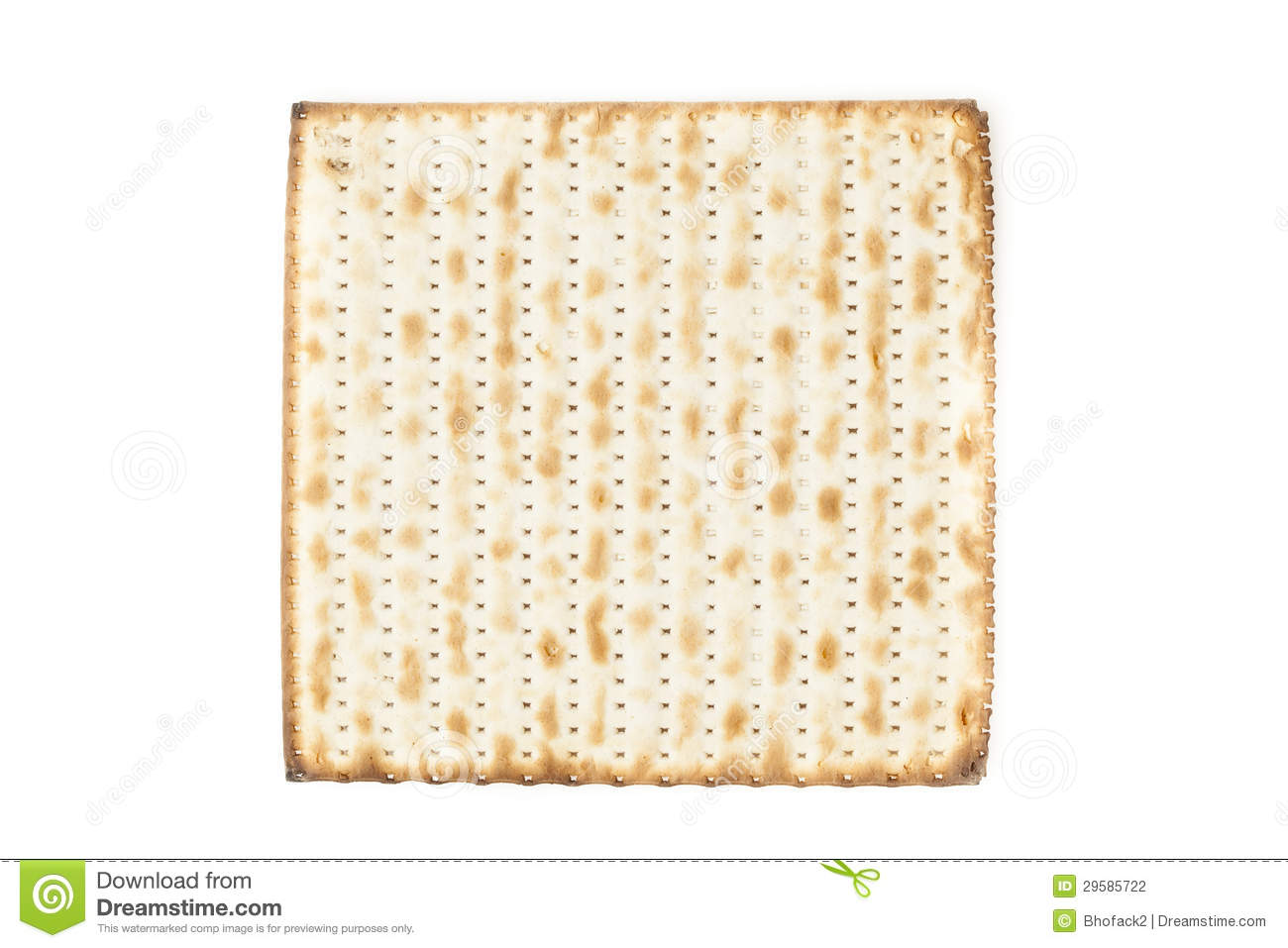 Homemade Kosher Matzo Crackers made with flour and water.