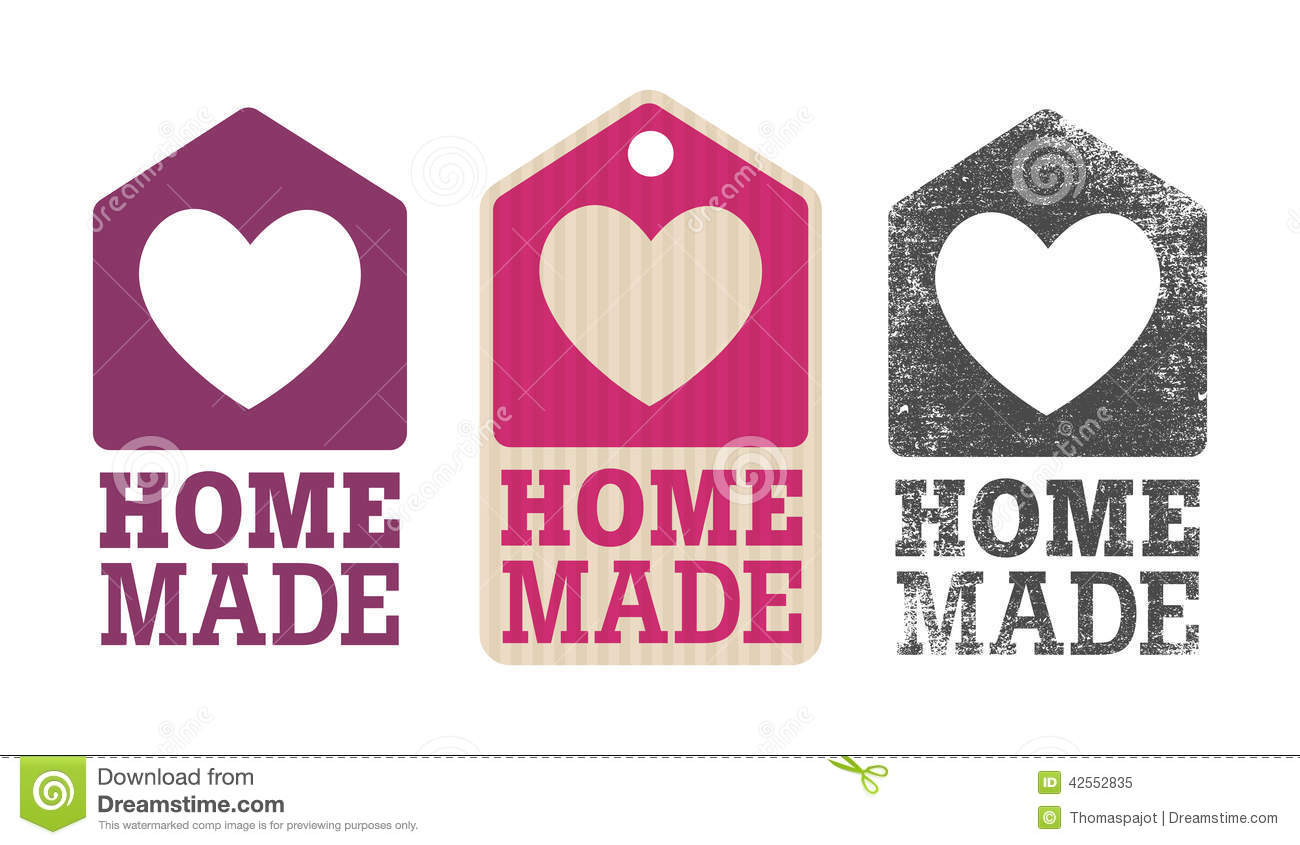 Homemade Label Stock Vector Image 42552835