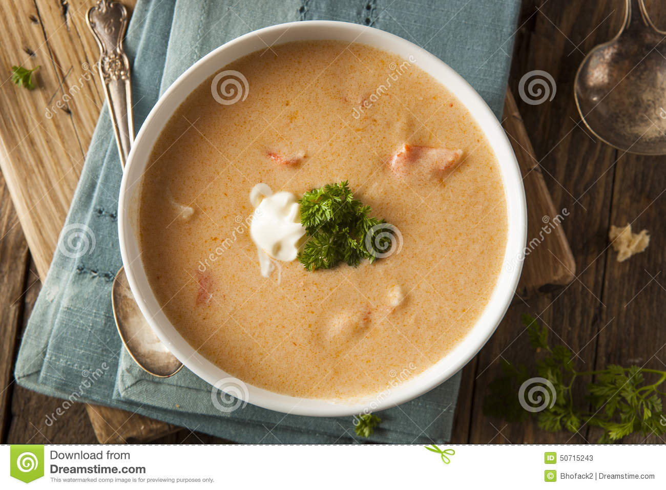 Homemade Lobster Bisque Soup Stock ...